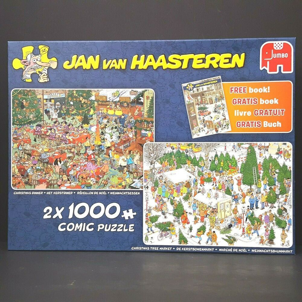 Jan Van Haasteren Christmas Tree Market Christmas Dinner 2 X pour Puzzle Photo Gratuit