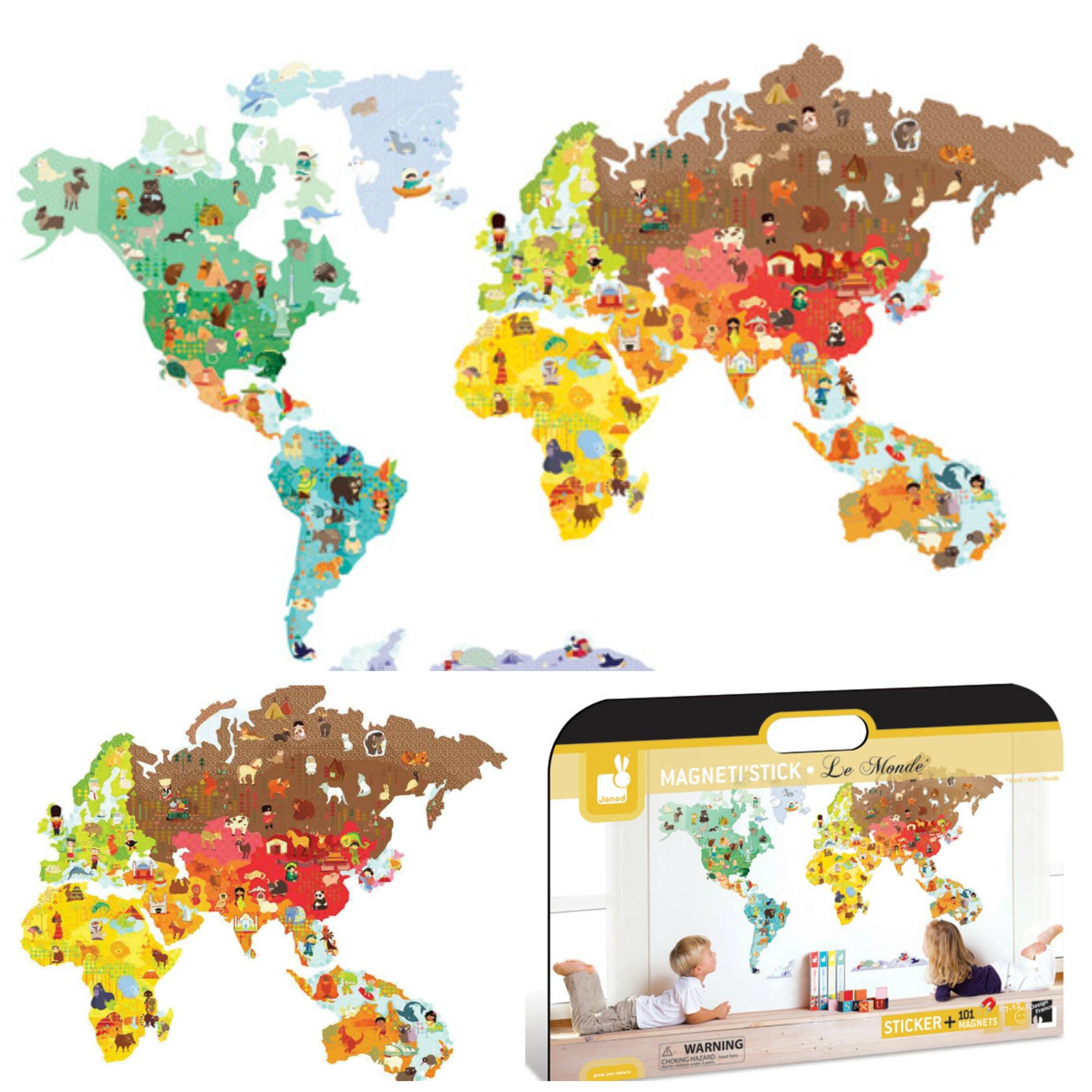 Janod : La Carte Géante Magnétique | Expressions D'enfants concernant Carte Du Monde Enfant