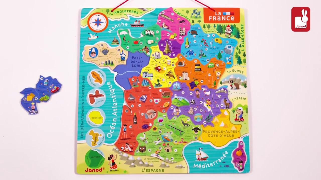 Janod Puzzle France Magnétique Nouvelles Régions destiné Nouvelles Régions En France