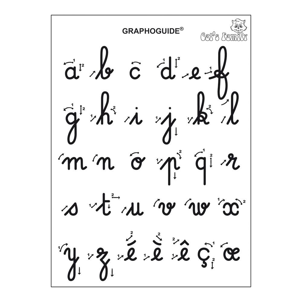 J'apprends À Ecrire Les Minuscules Cursives - Hoptoys à Apprendre A Ecrire Les Lettres En Minuscule