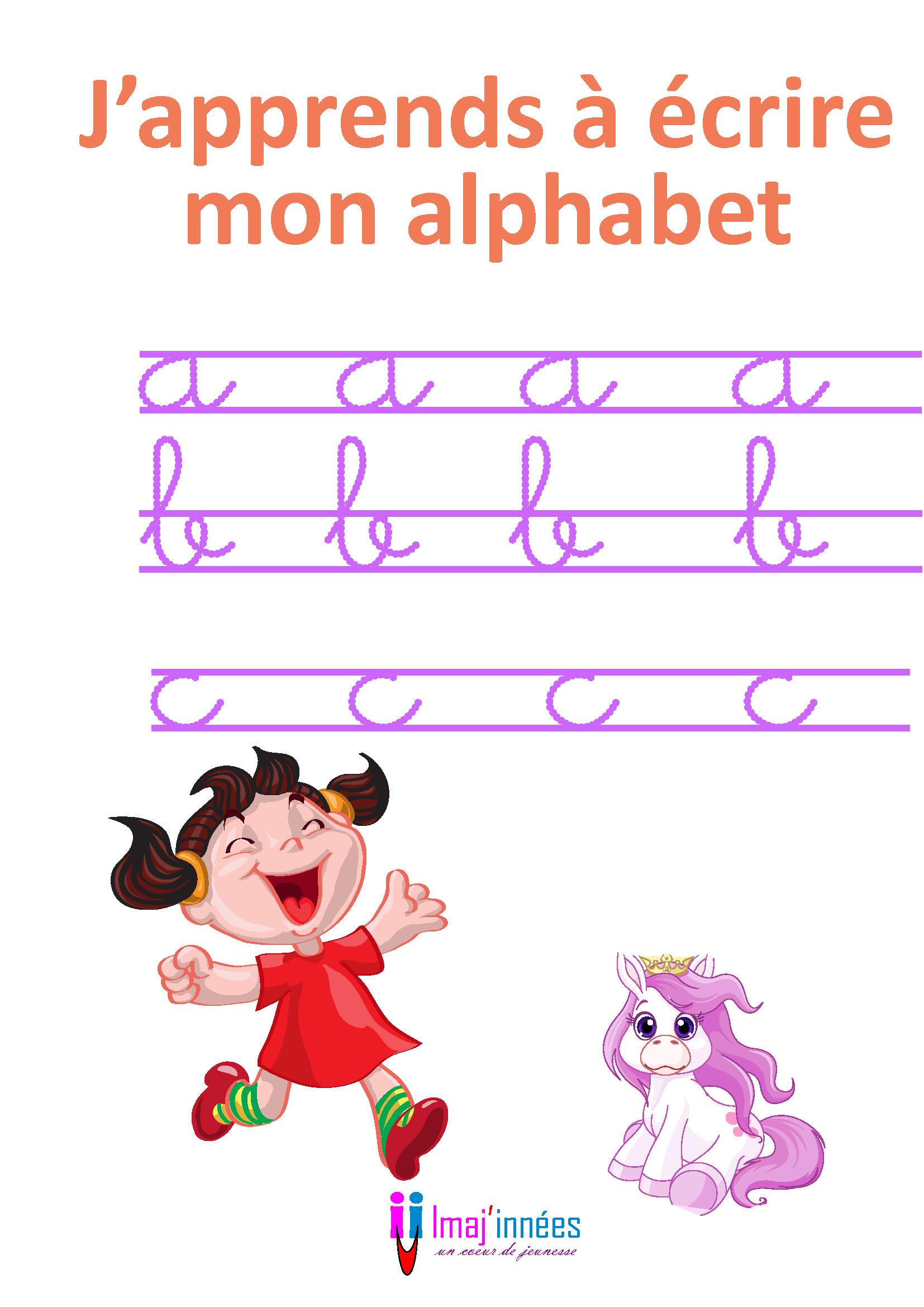 J'apprends À Écrire Mon Alphabet | Imaj'innées encequiconcerne Ecrire L Alphabet