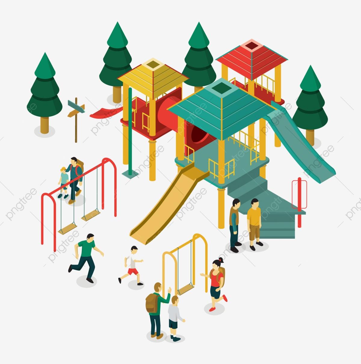 Jardin Denfants Terrain De Jeu Dessin Animé Aire De Jeux De dedans Jeux Enfant Dessin