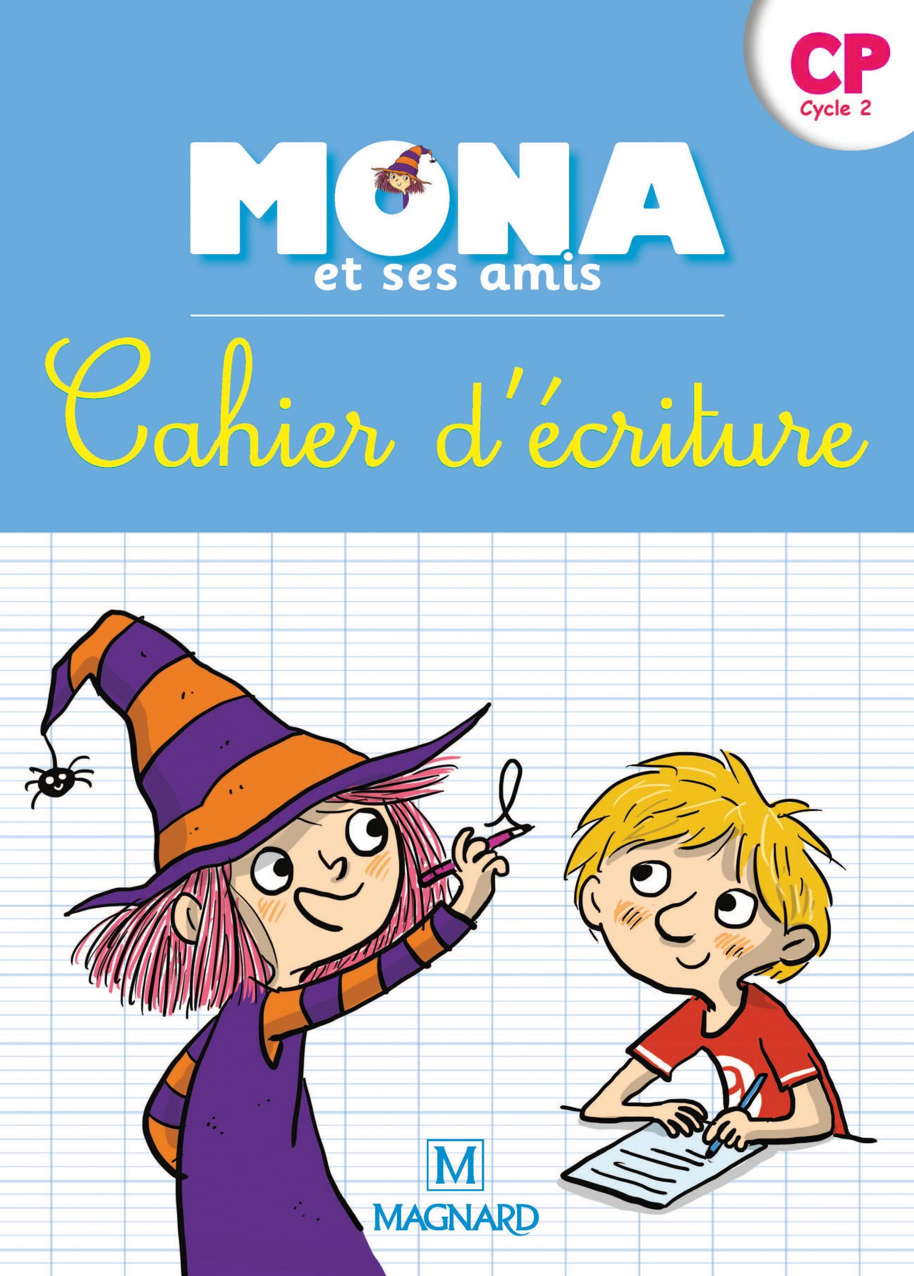 Je Lis Avec Mona Et Ses Amis Cp - Cahier D'écriture dedans Cahier D Écriture Cp À Imprimer
