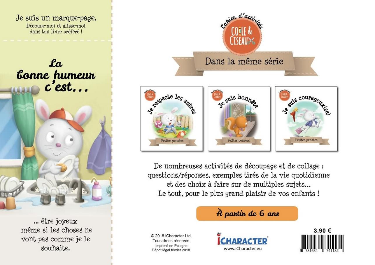 Je Suis De Bonne Humeur - Cahier D'activités - Librairie intérieur Decoupage Pour Enfant