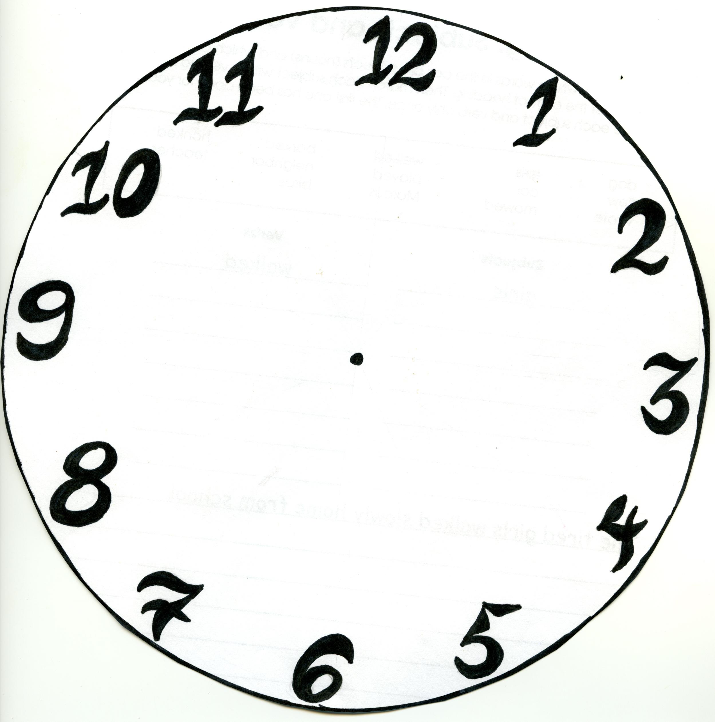 Je Suis L'enseignant   J'apprends L'heure dedans Dessin D Horloge