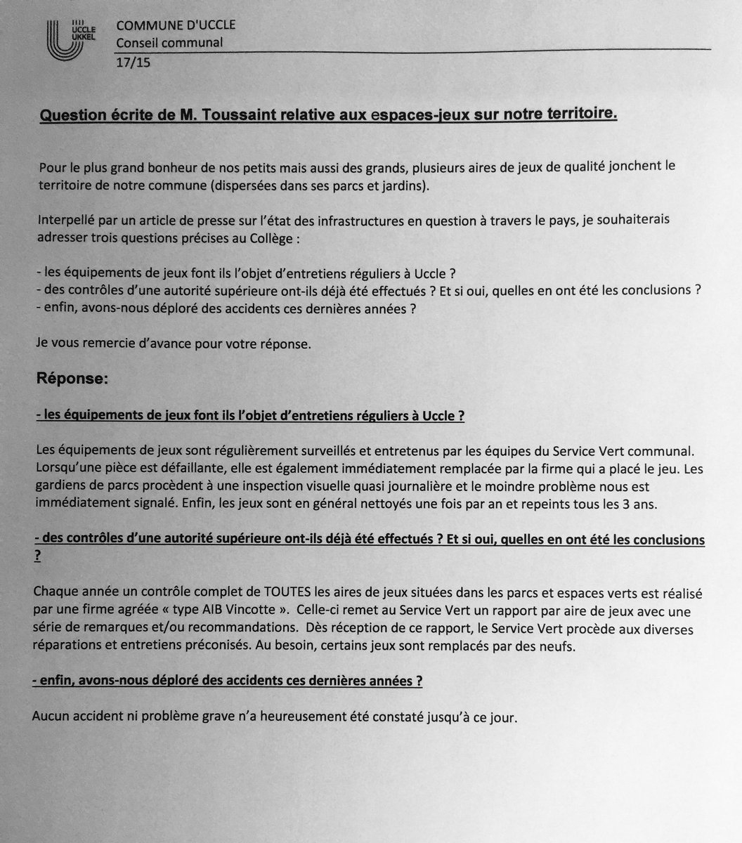 """Jérôme Toussaint On Twitter: """"réponse À Ma Question Écrite tout Jeux Avec Des Questions"""
