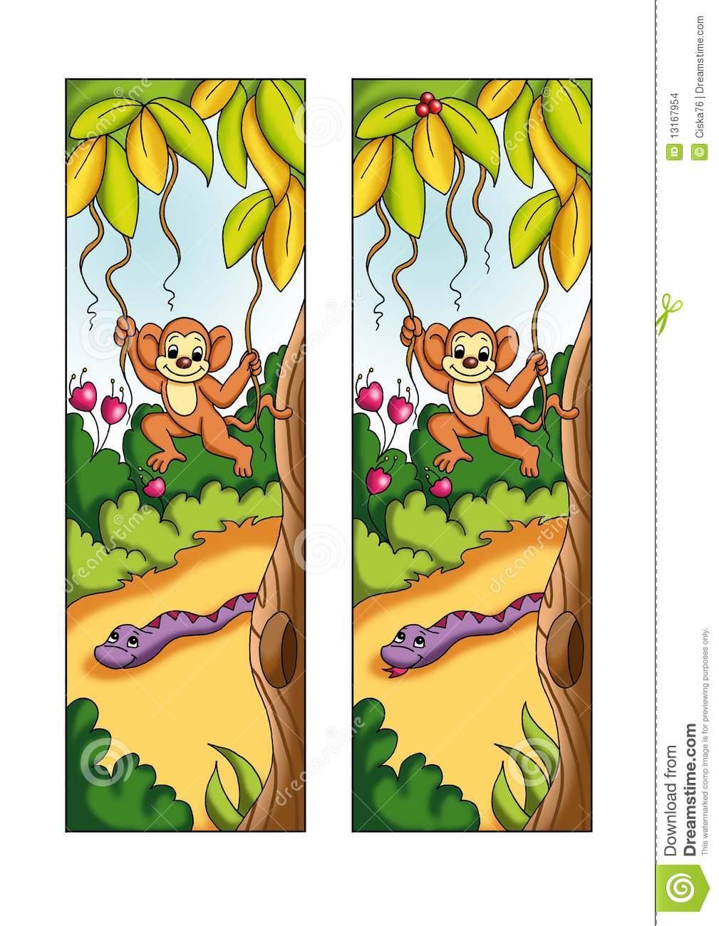 Jeu 9 - Les 5 Différences Illustration De Vecteur dedans Les 5 Differences