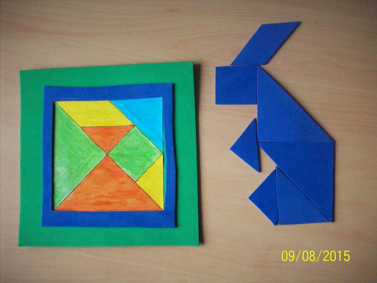 Jeu À Fabriquer Tangram - Mes Créations Mon Paradis à Tangram Lapin