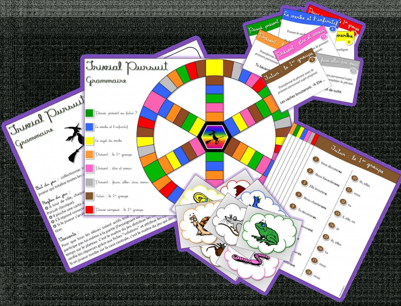 Jeu À Imprimer ] Trivial Pursuit Grammaire-Conjugaison intérieur Jeux Ce2 À Imprimer