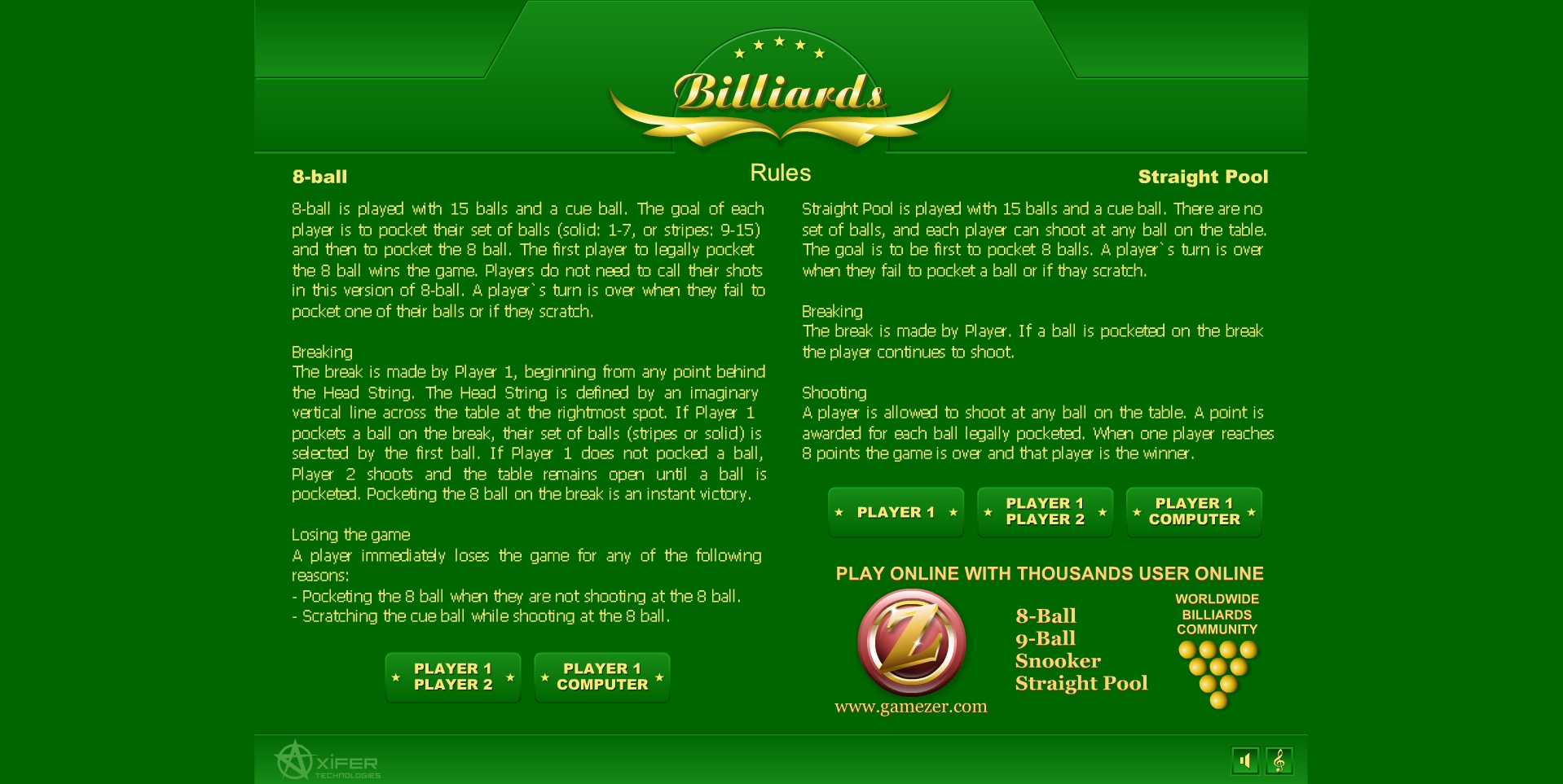 Jeu Billard Billiards Gratuit En Ligne tout Jeux Gratuit Billard