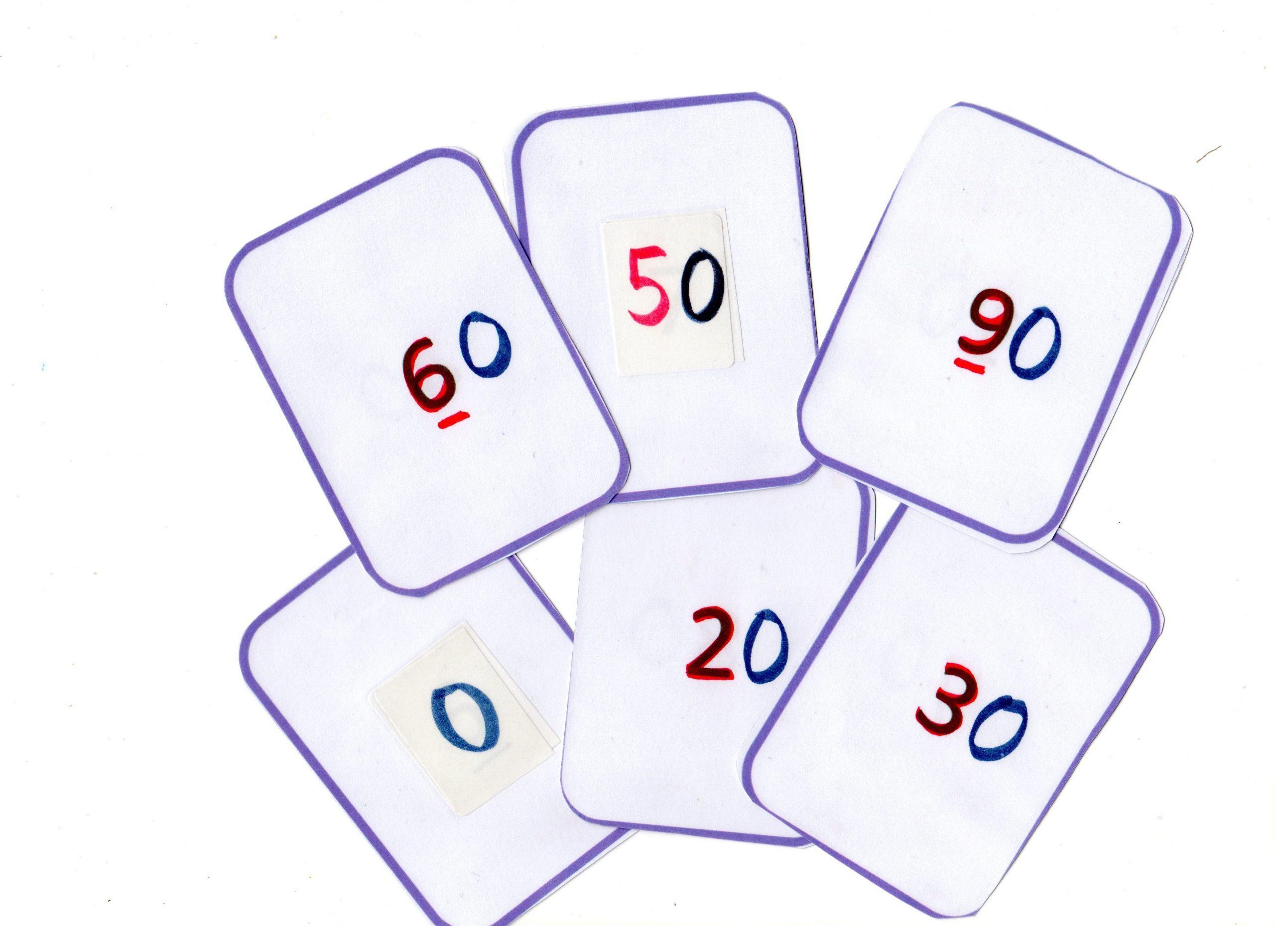 Jeu Carte Nombre 0 À 20 serapportantà Jeux Avec Des Nombres