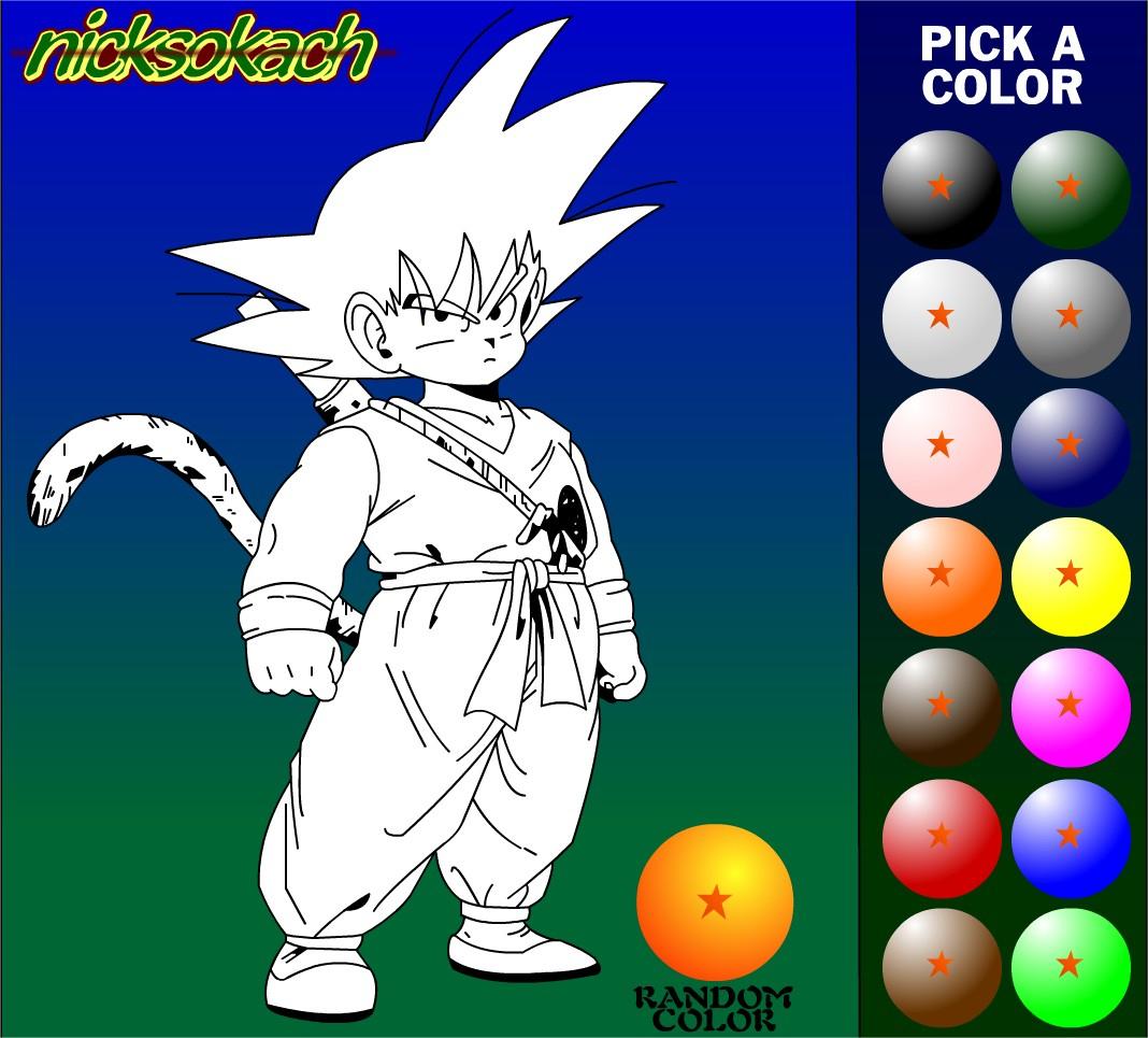 Jeu Coloriage Dragon Ball : Jeu De Coloriage En Ligne Gratuit serapportantà Dessin À Colorier En Ligne Gratuit