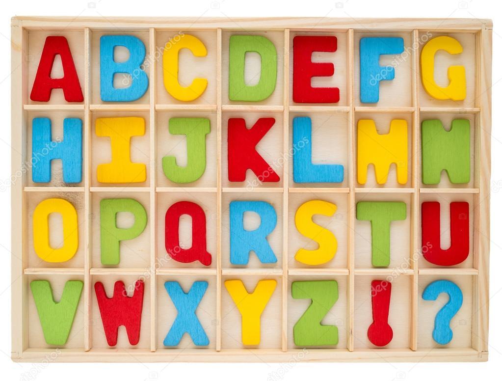 Jeu D'alphabet En Majuscules Coloré — Photographie Jpanudda avec L Alphabet En Majuscule