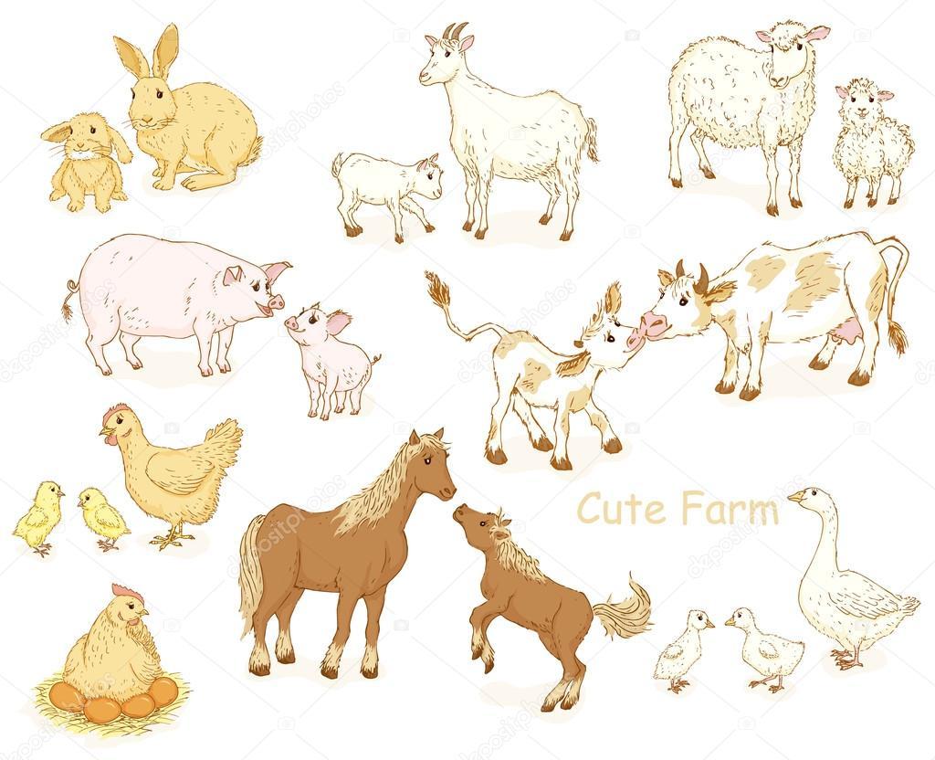 Jeu D'animaux De Ferme. — Image Vectorielle Nordfox © #78099304 encequiconcerne Jeux Les Animaux De La Ferme