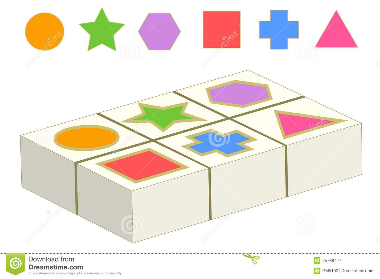 Jeu D'assortiment Avec Des Formes Géométriques Illustration à Jeu De Forme Géométrique