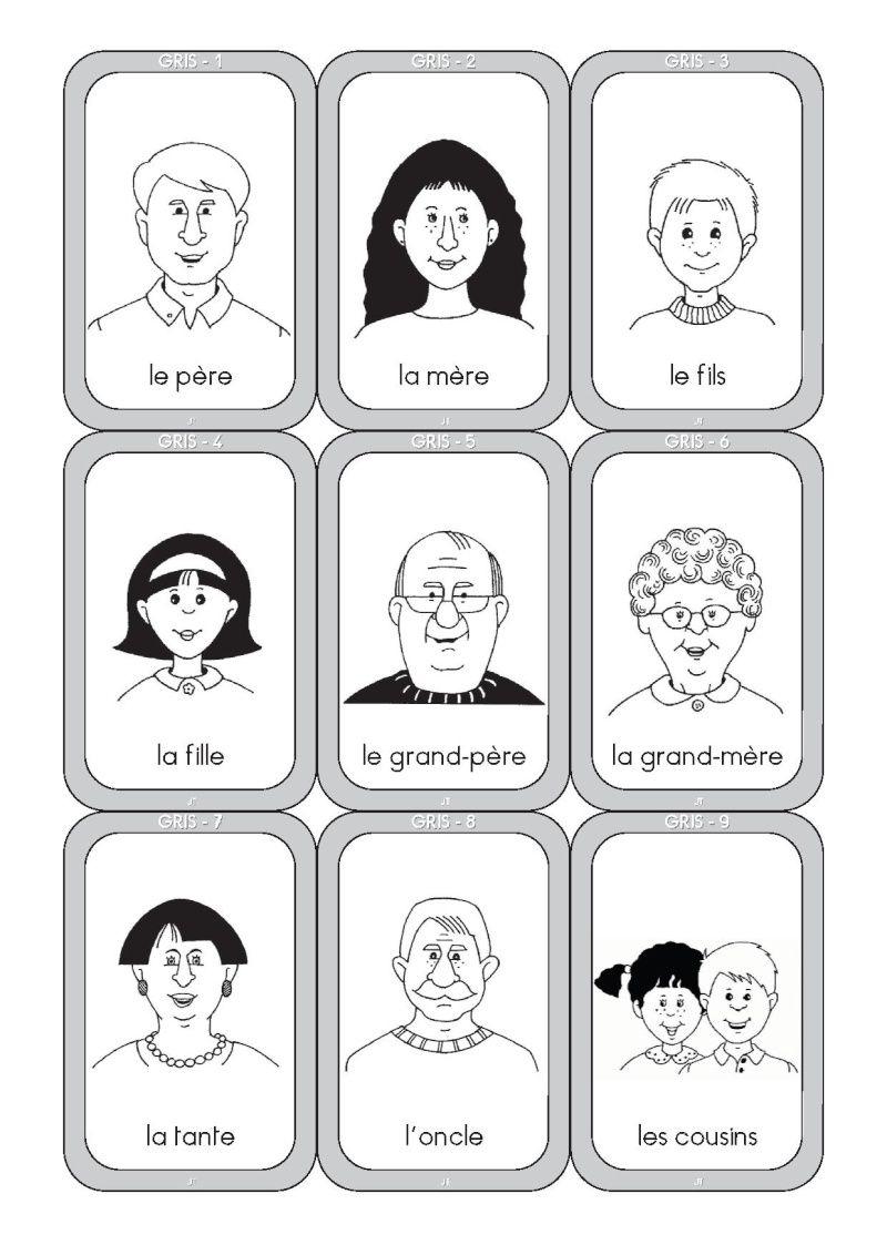 Jeu De 7 Familles A Colorier - Votre Image Id-3 Sur encequiconcerne Jeu En Anglais À Imprimer