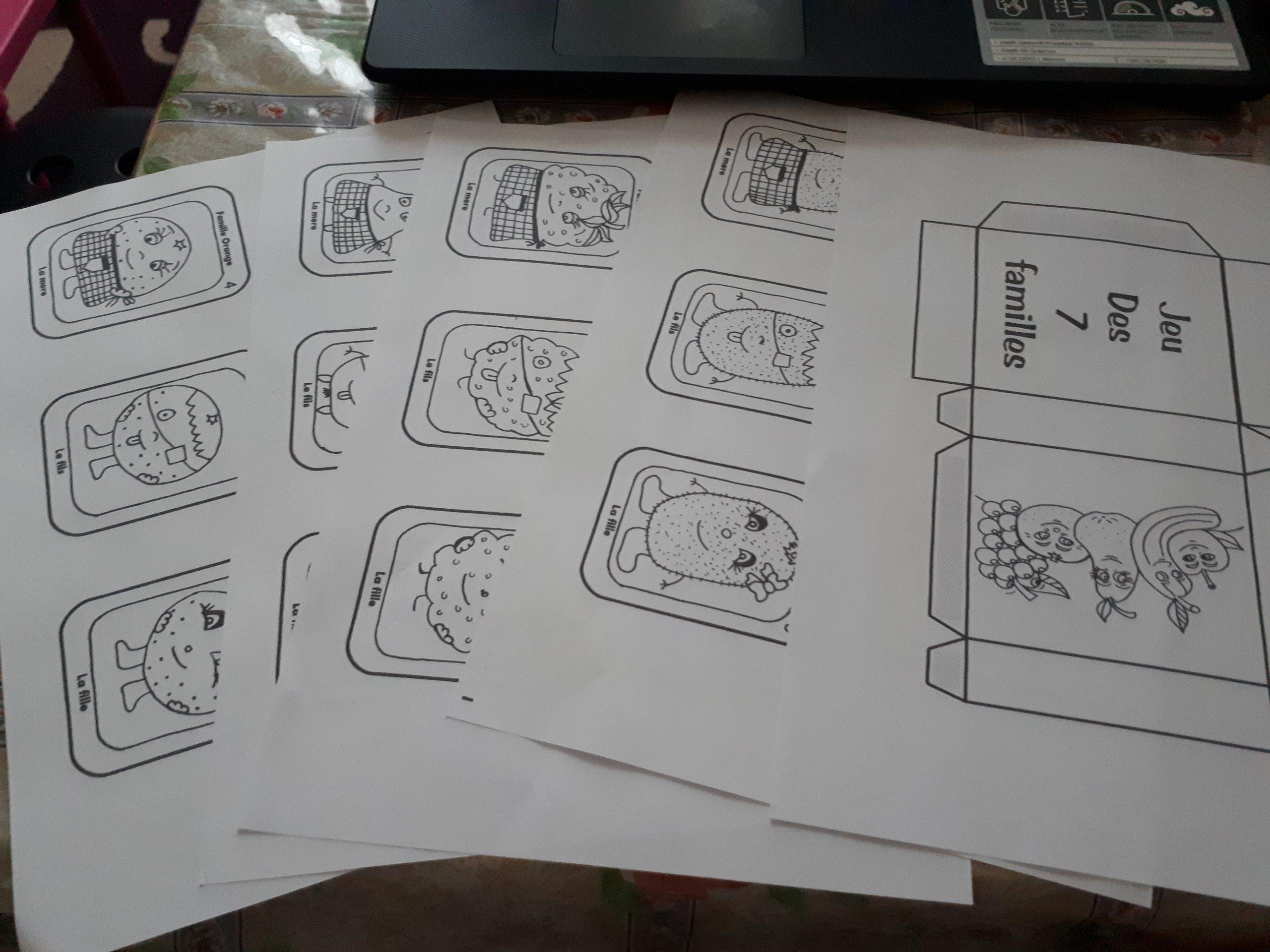 Jeu De 7 Familles À Imprimer Et Colorier - Maman Sereine dedans Jeux De Memoire Gratuit Pour Enfant