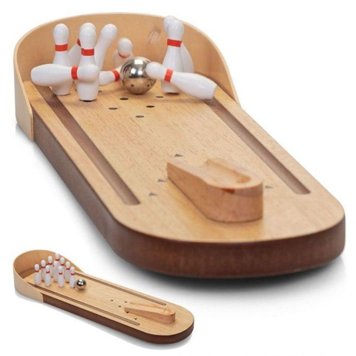 Jeu De Bowling En Bois - Taille : Tu | Cadeaux En Bois, Jeux intérieur Jeux De Bouligue