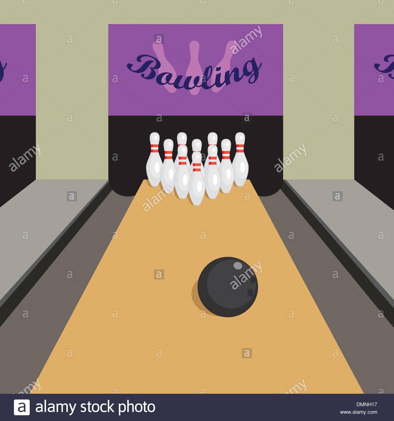 Jeu De Bowling Vecteurs Et Illustration, Image Vectorielle destiné Jeux De Bouligue