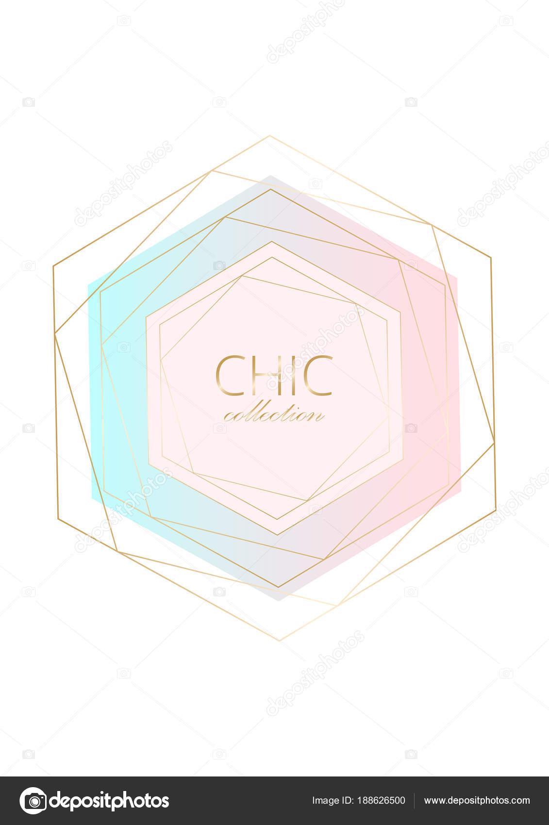 Jeu De Carte Géométrique Chic — Image Vectorielle Anna_Sokol à Jeu De Forme Géométrique
