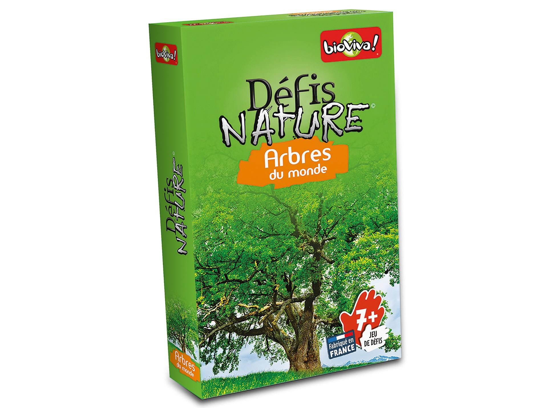 Jeu De Cartes Défis Nature - Arbres Du Monde pour Jeu Carte De France