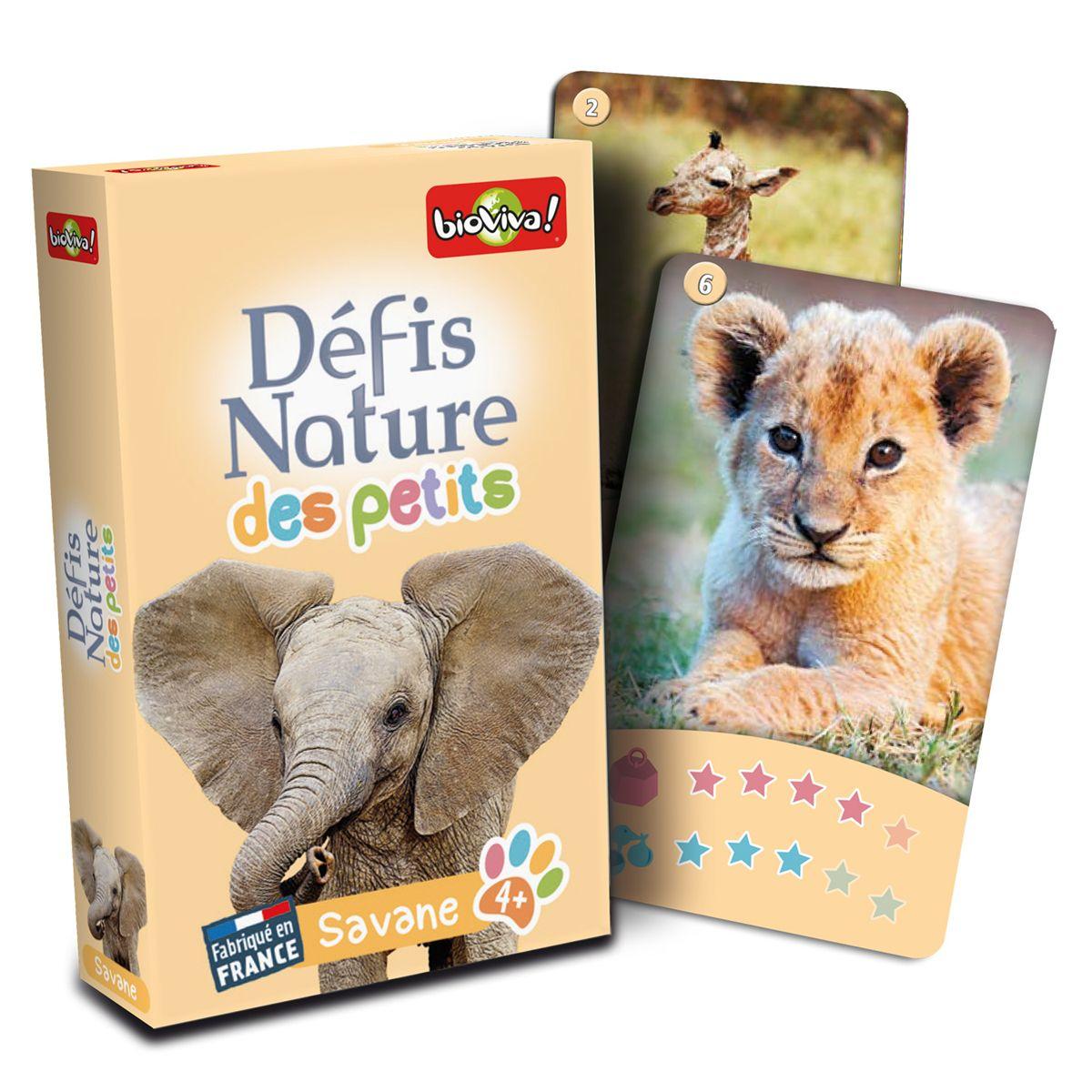 Jeu De Cartes Défis Nature Des Petits - Savane - Jeux De avec Jeux De Savane