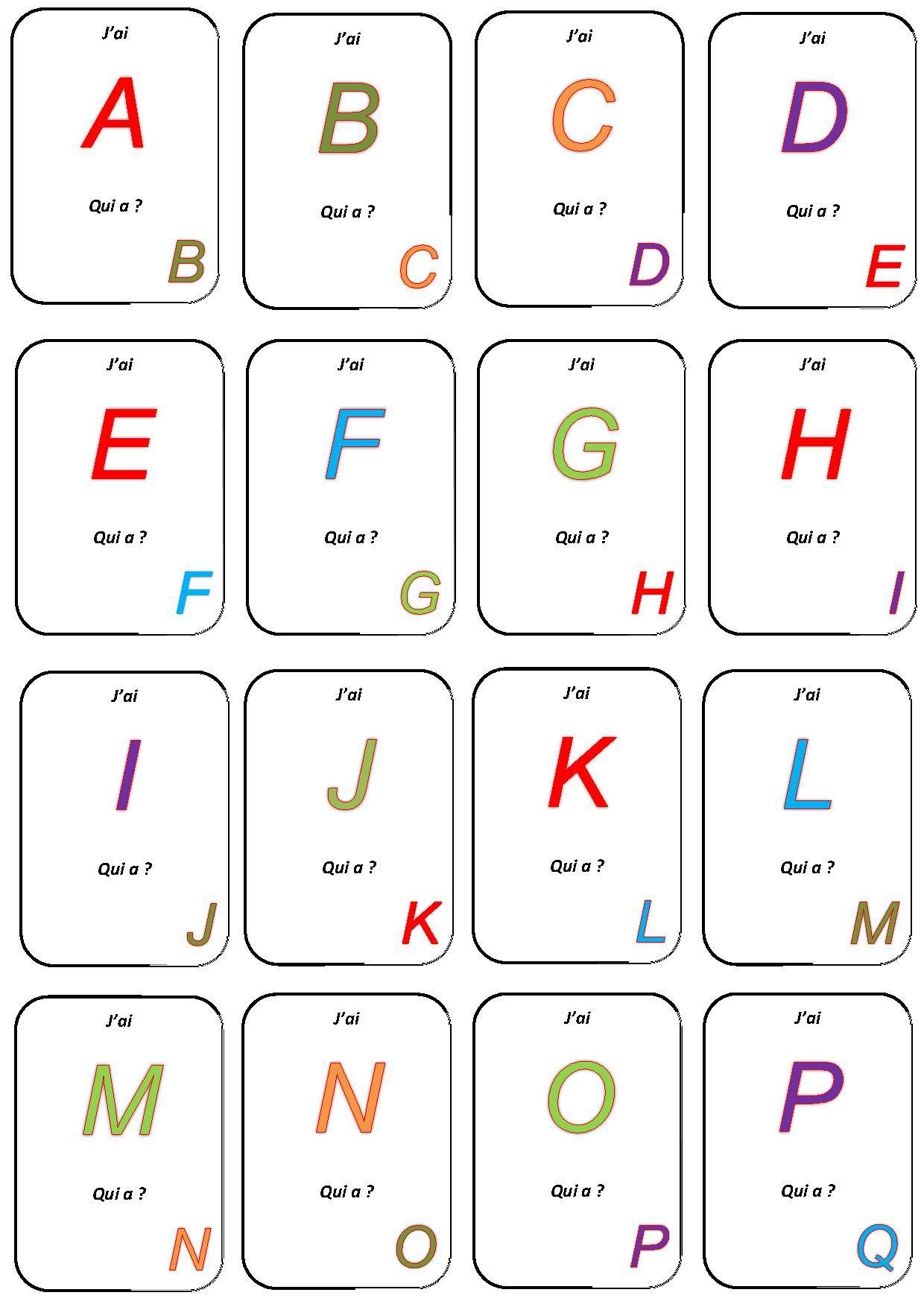Jeu De Cartes Maternelle À Imprimer tout Jeux De Maternelle À Imprimer