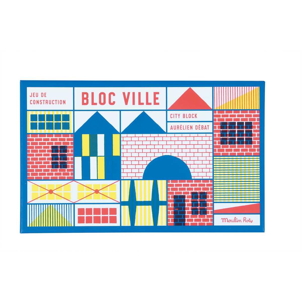 Jeu De Construction (40 Pièces) Dans La Ville, 720404, Mémoire D'enfant,  Moulin Roty - La Maison De Zazou encequiconcerne Jeux Memoire Enfant