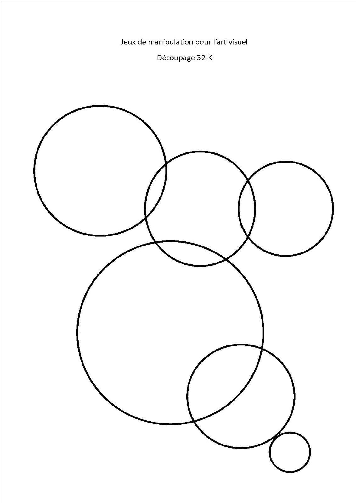 Jeu De Découpage 32, Les Cercles - Association Pittoresque destiné Jeux De Découpage