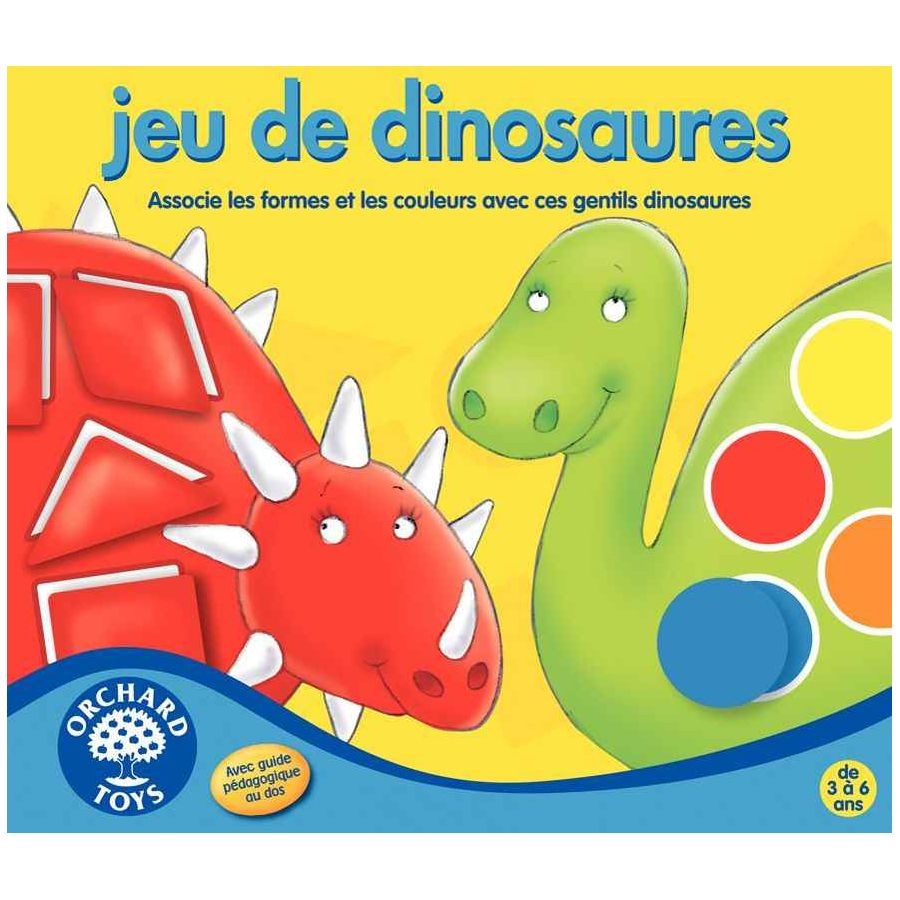 Jeu De Dinosaures - Orchard Toys   Apprendre Les Formes Et intérieur Jeux Apprendre Les Couleurs