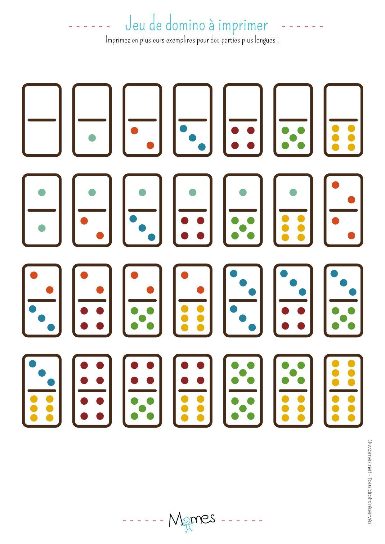 Jeu De Dominos À Imprimer | Jeux A Imprimer, Jeux À tout Jeux De Memory Gratuit