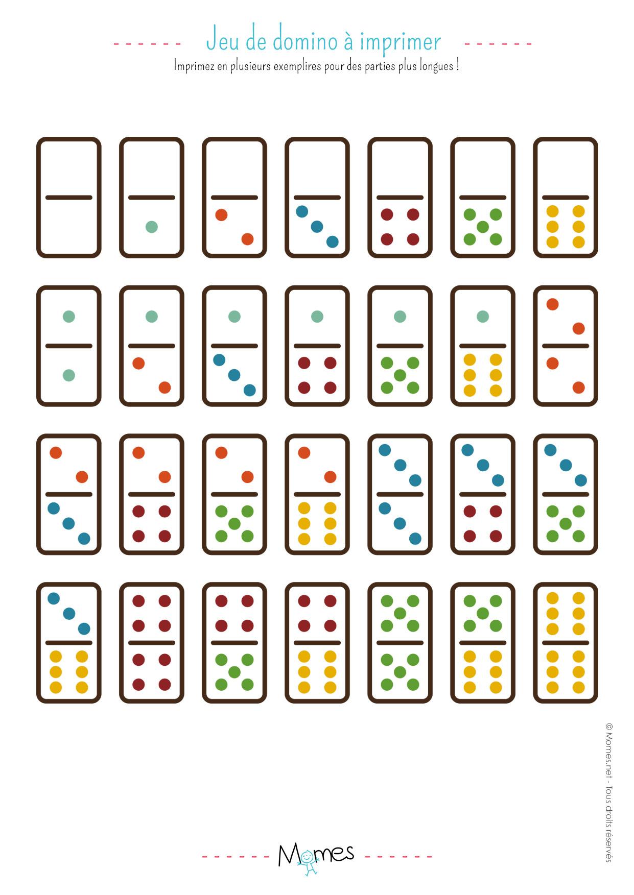 Jeu De Dominos À Imprimer - Momes concernant Jeux À Imprimer 6 Ans