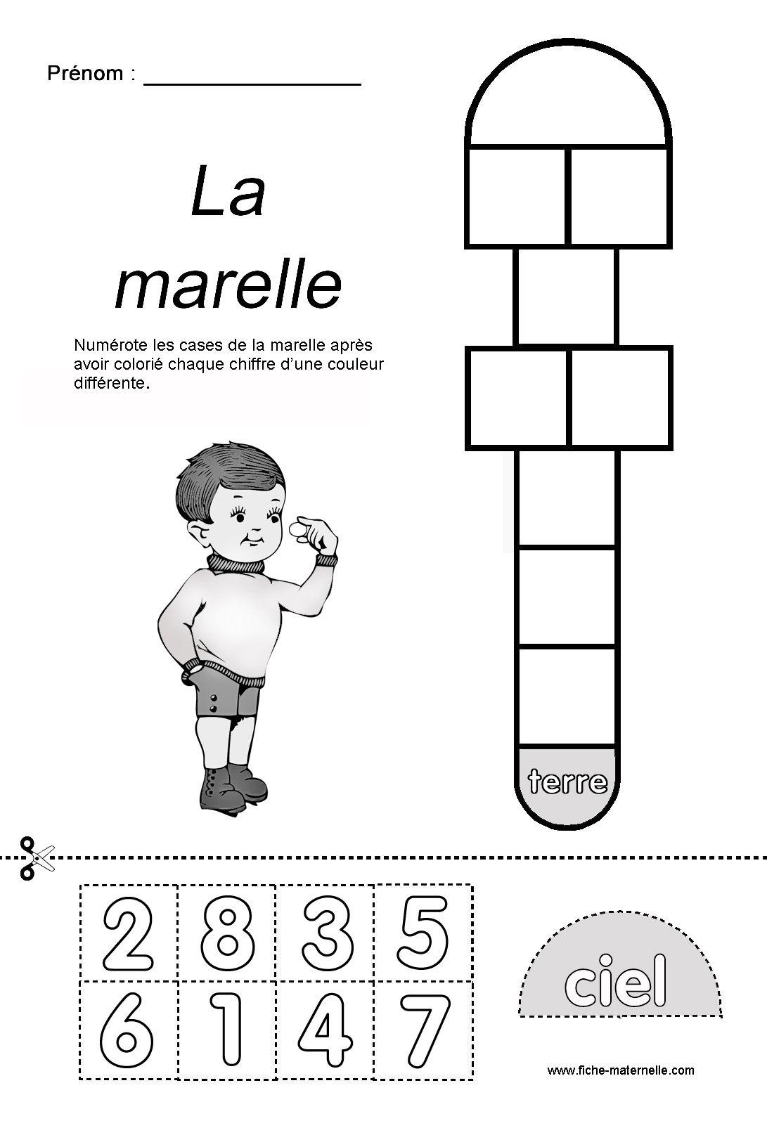 Jeu De La Marelle En Maternelle tout Jeux Educatif Grande Section