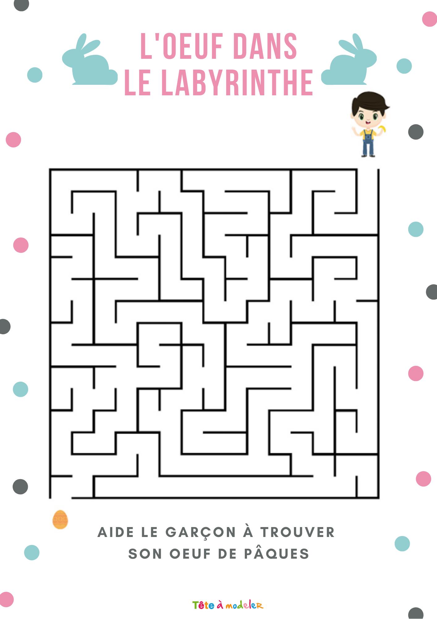 Jeu De Labyrinthe De Pâques Niveau 1 avec Jeux De Labyrinthe Gratuit