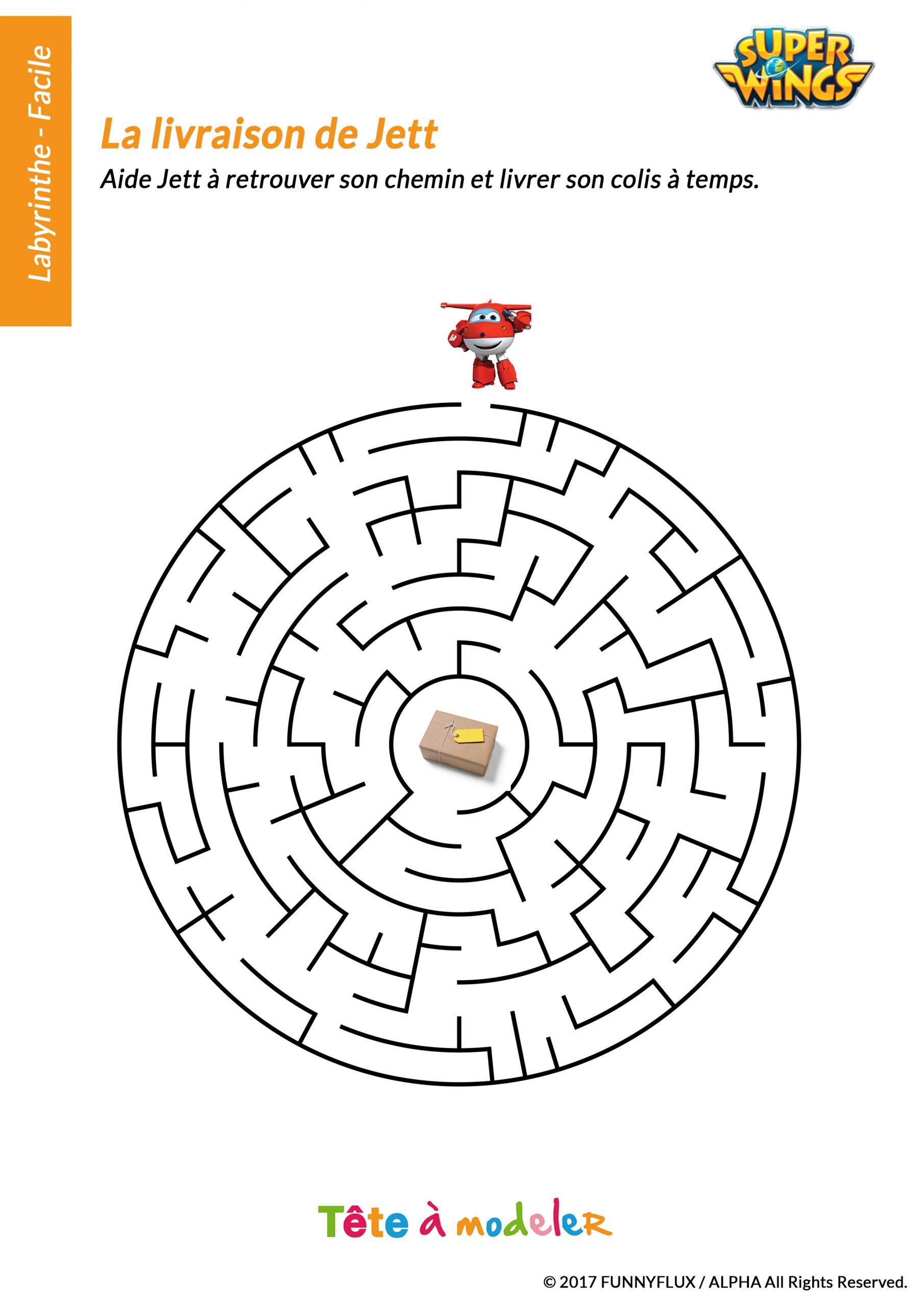 Jeu De Labyrinthe Facile Super Wings pour Jeux De Labyrinthe Gratuit