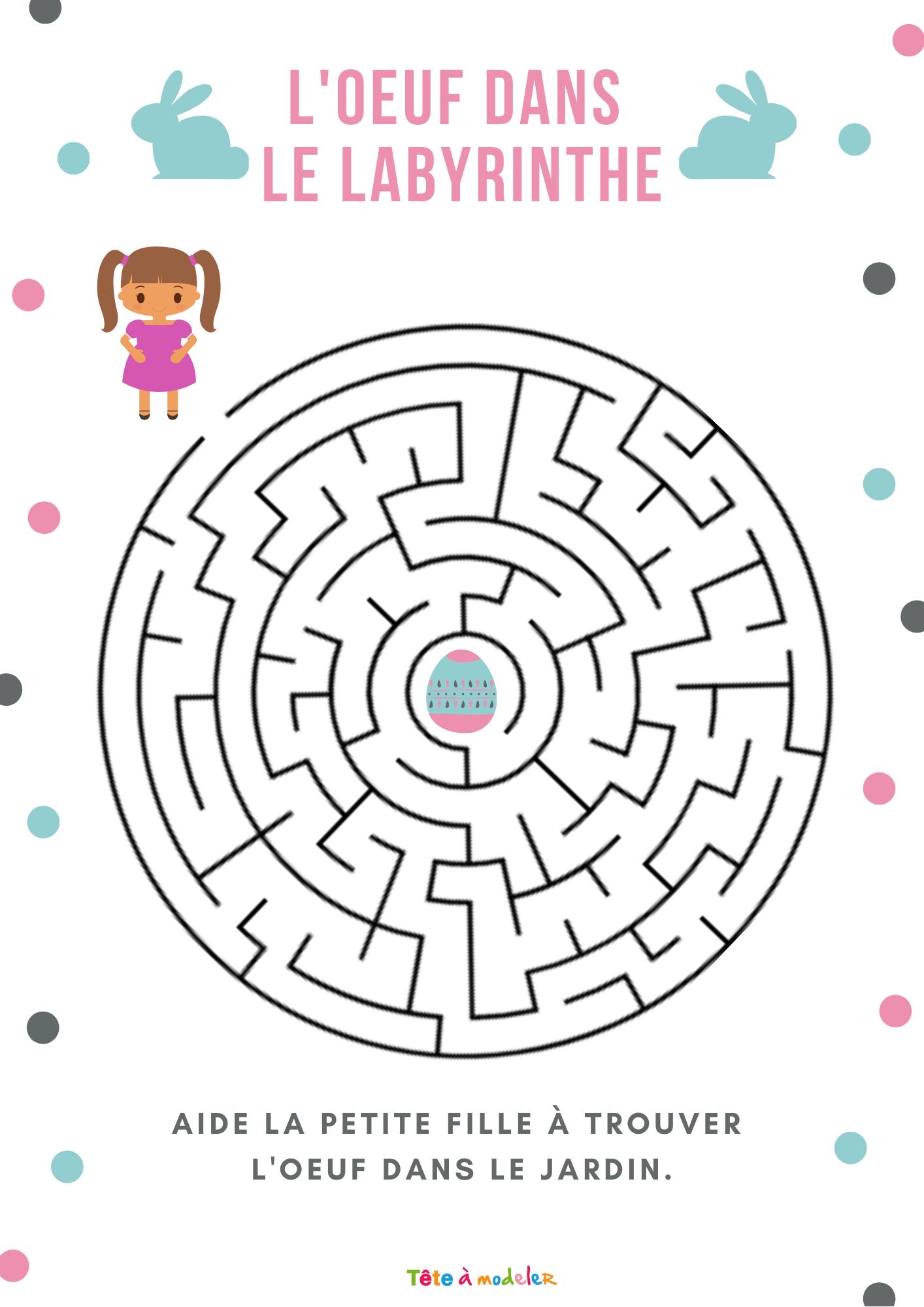 Jeu De Labyrinthe : L'oeuf Dans Le Labyrinthe- Jeu Gratuit À tout Trouver Les Erreurs À Imprimer