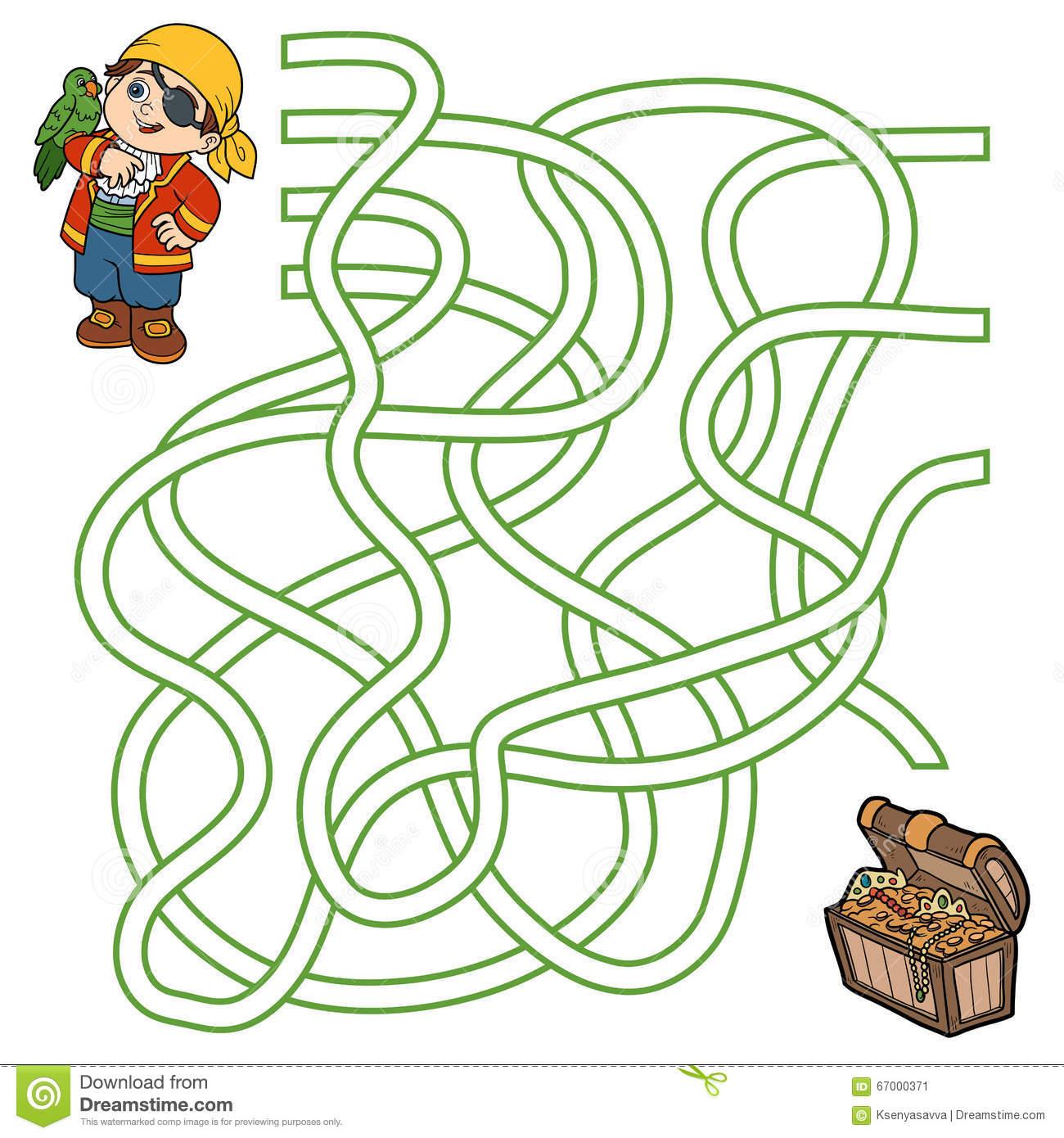 Jeu De Labyrinthe Pour Des Enfants (Garçon Et Perroquet De à Jeux De Labyrinthe Gratuit