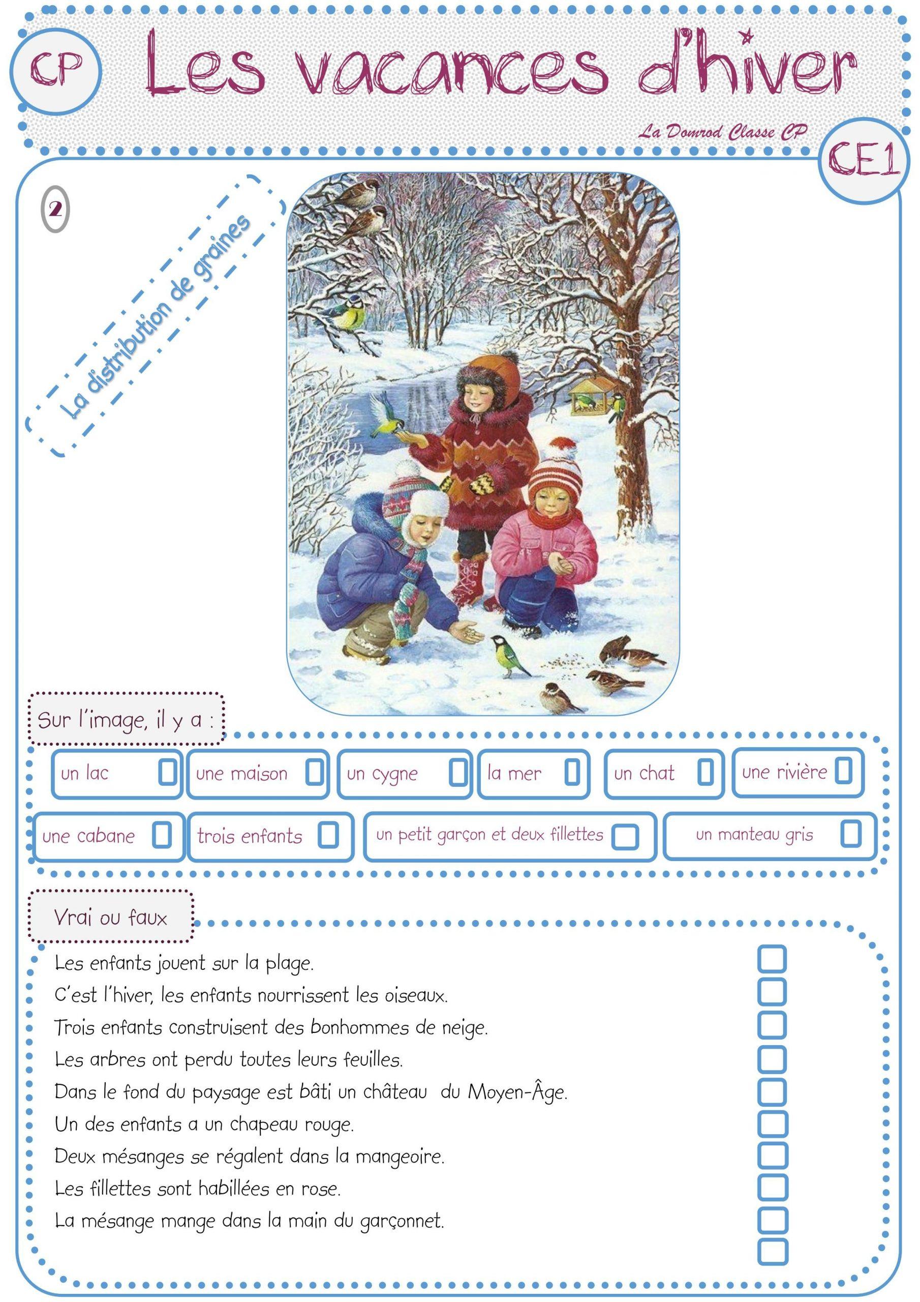 Jeu De Lecture Les Vacances D'hiver | Jeux De Lecture pour Jeux Enfant Cp