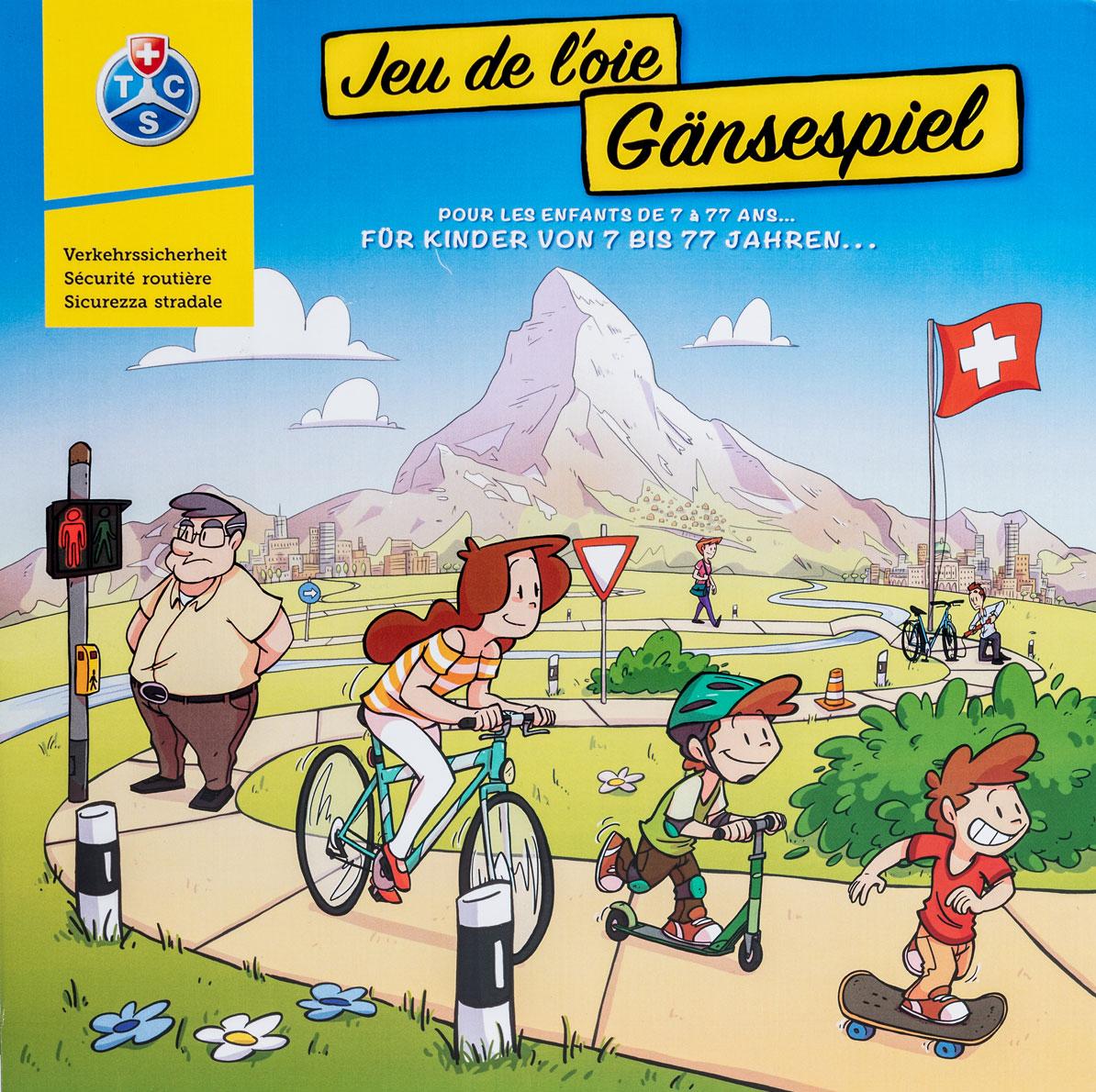 Jeu De L'oie (7-77 Ans) - Boîte - Tcs Suisse à Jeux Enfant 7 Ans