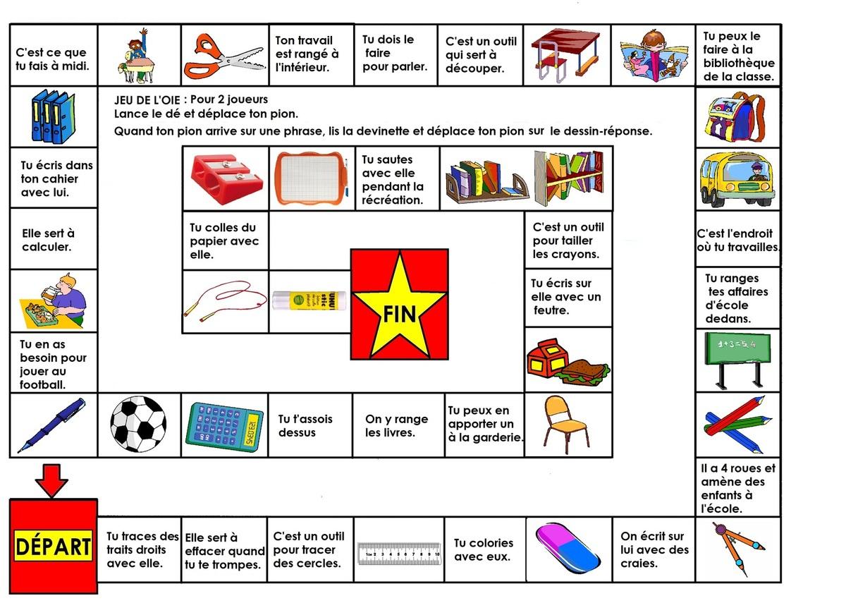 Jeu De L'oie Cp, Ce1 Lecture De Phrases N°2: Thème De L pour Jeux Enfant Cp