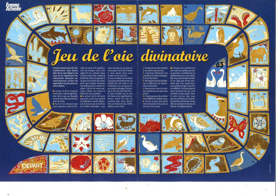 Jeu De L'oie : La Divination Gratuite Par Les Dés : Femme pour Jeux Des Differences Gratuit A Imprimer