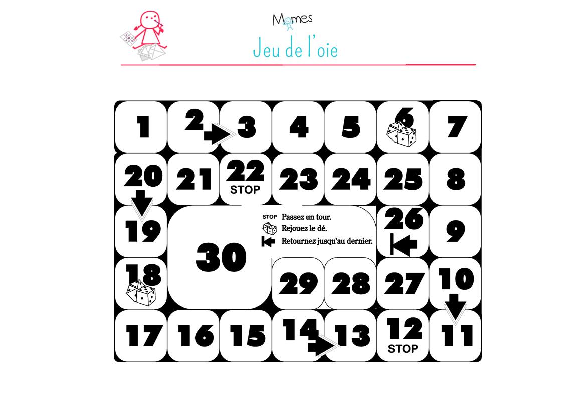 Jeu De L'oie Mathématique - Momes concernant Jeux Mathématiques À Imprimer