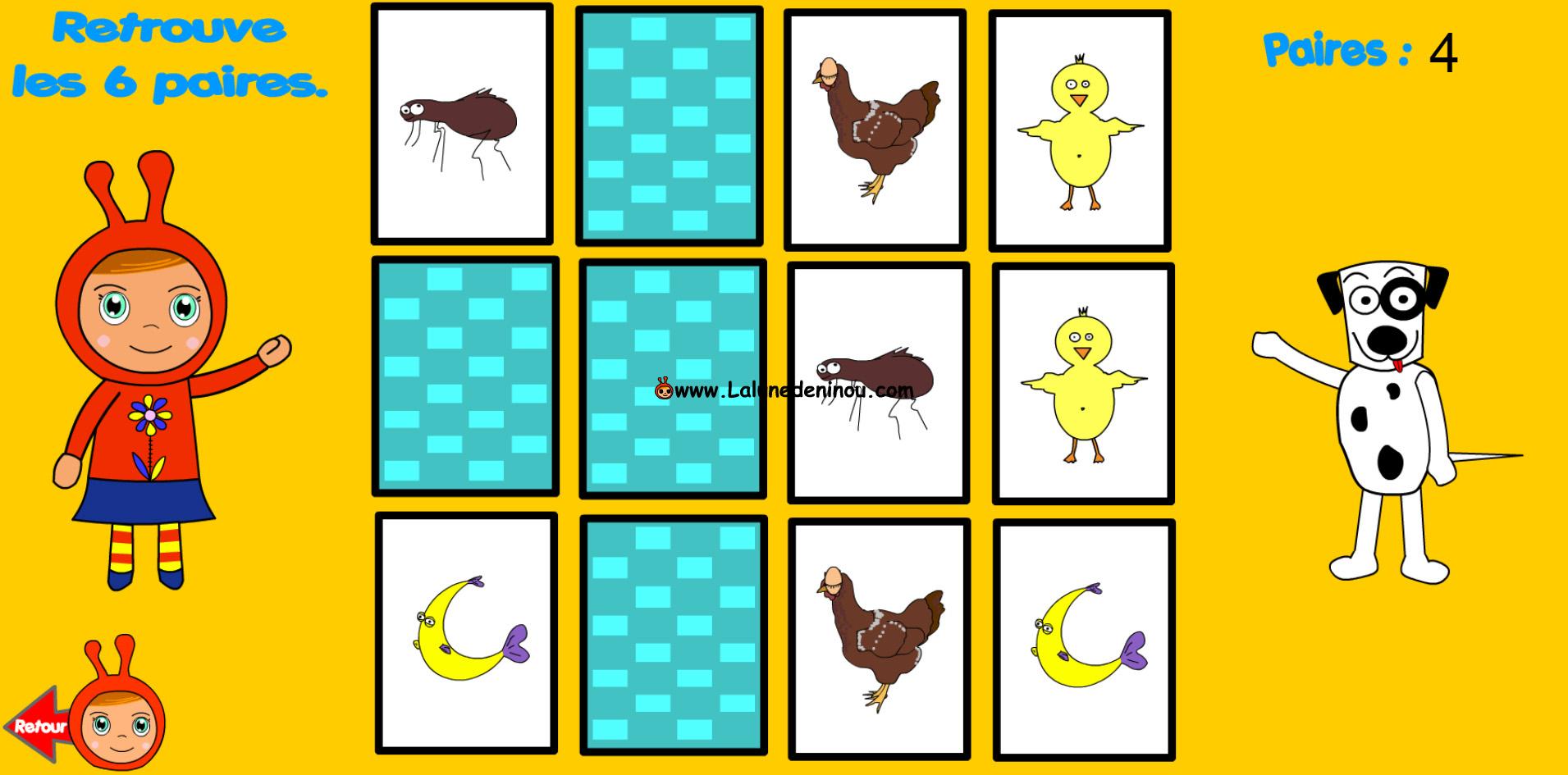 Jeu De Memoire Cartes Identiques - Memory - Jeux Pour à Jeux De Memoire Enfant