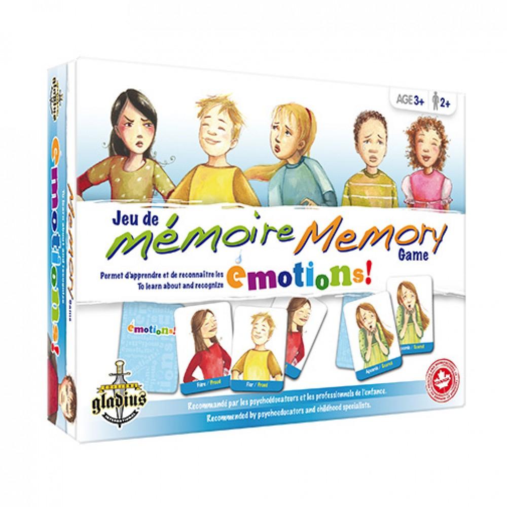 Jeu De Mémoire - Émotions De Éditions Gladius - Poupons intérieur Jeux De Memoire Enfant