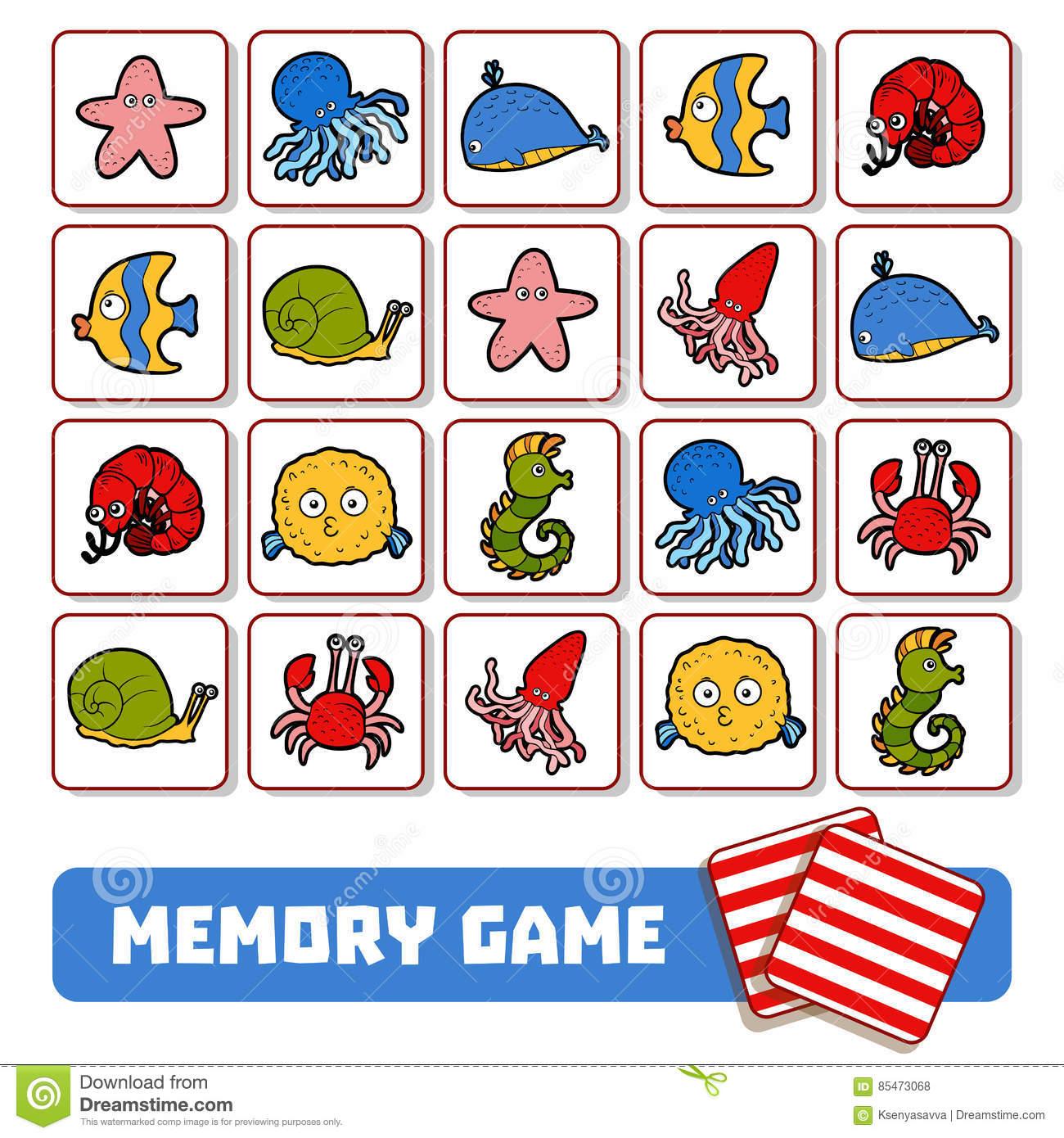 Jeu De Mémoire Pour Les Enfants, Cartes Avec Des Animaux De encequiconcerne Jeux De Memory Pour Enfants