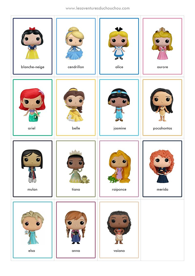 Jeu De Memory À Imprimer / Memory Game Printable (Disney dedans Jeux De Memory Pour Enfants