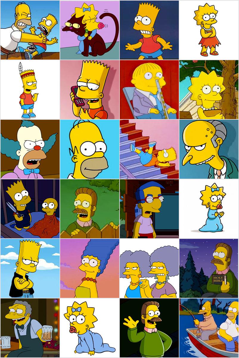 Jeu De Memory À Imprimer Pour Enfants - Les Simpsons dedans Jeux De Memory Pour Enfants