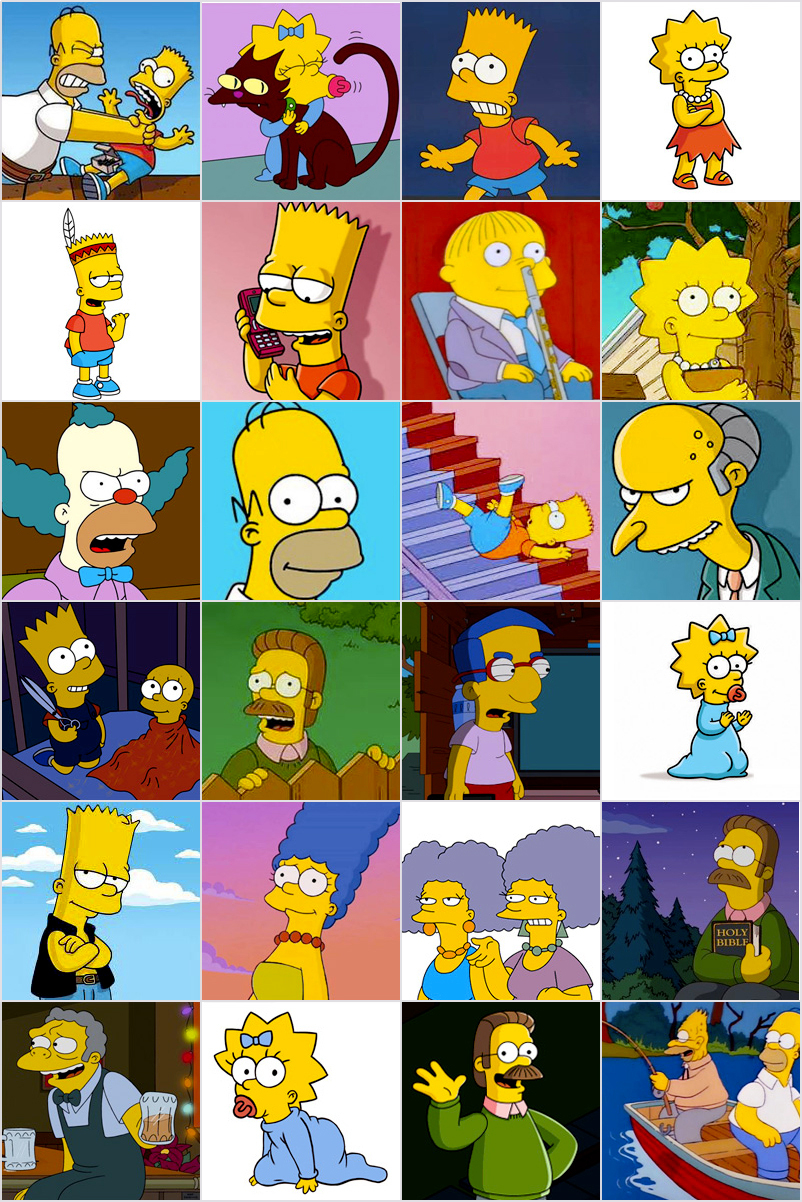 Jeu De Memory À Imprimer Pour Enfants - Les Simpsons destiné Jeu Memory Enfant