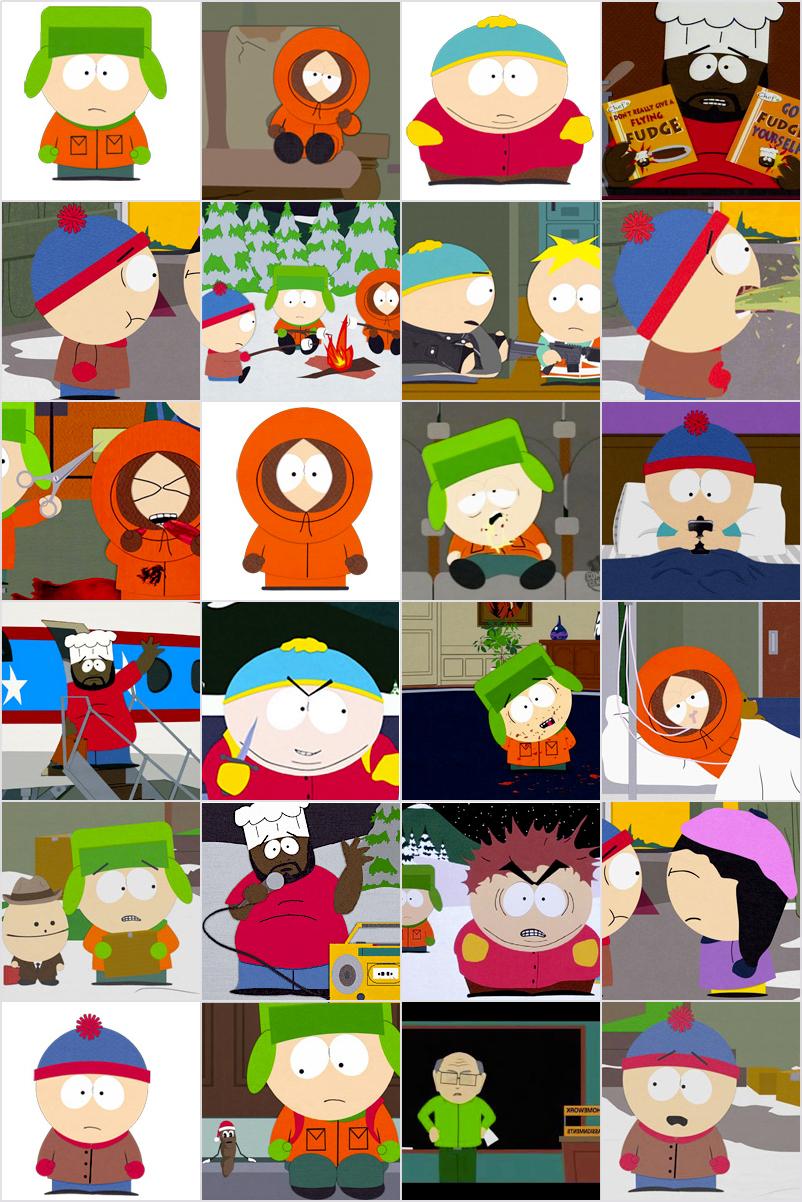 Jeu De Memory À Imprimer Pour Enfants - South Park concernant Jeux De Memory Pour Enfants