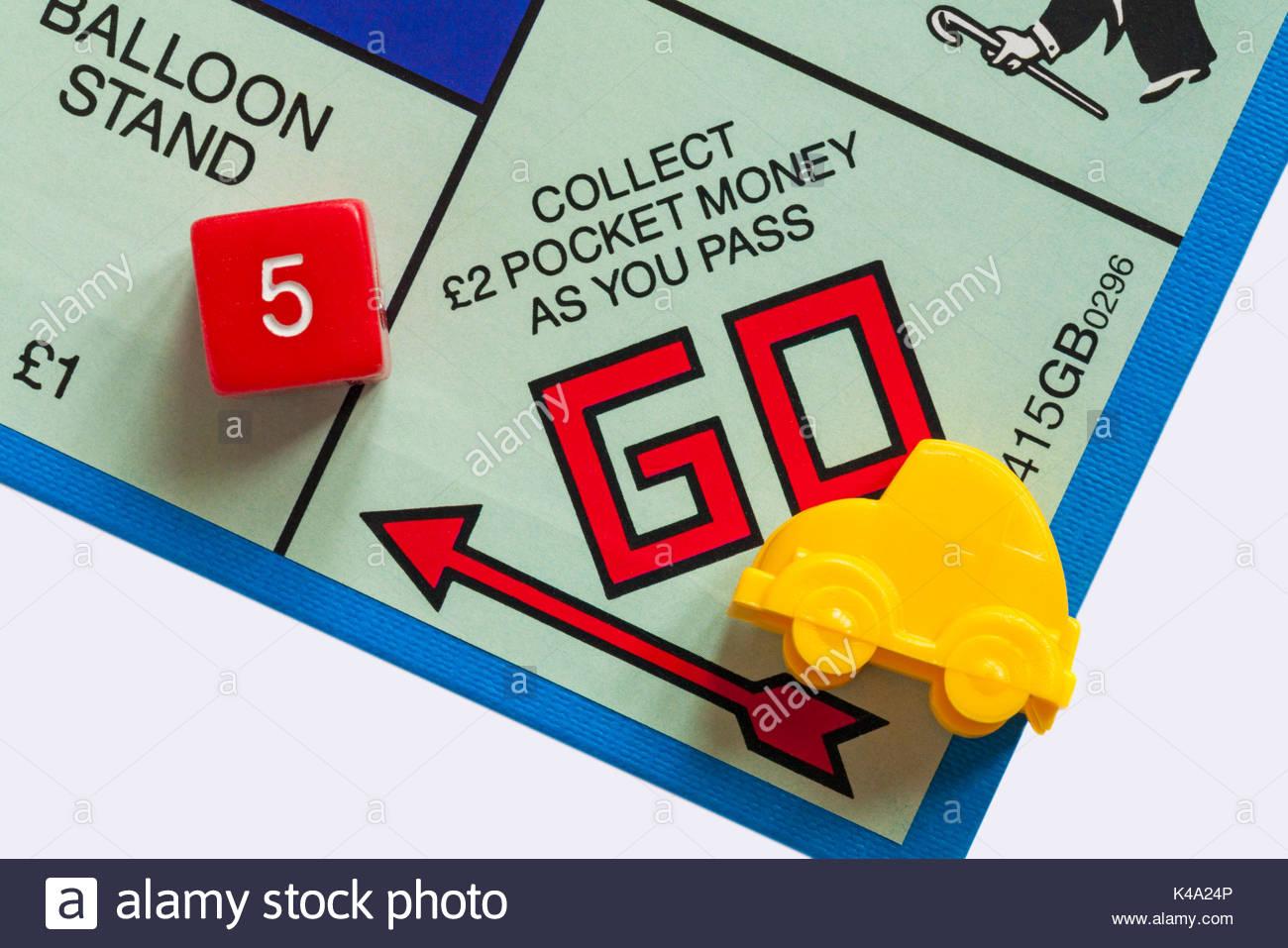 Jeu De Monopoly Junior - Détail De Voiture Jaune Jeton Sur destiné Jeux De Voiture Jaune